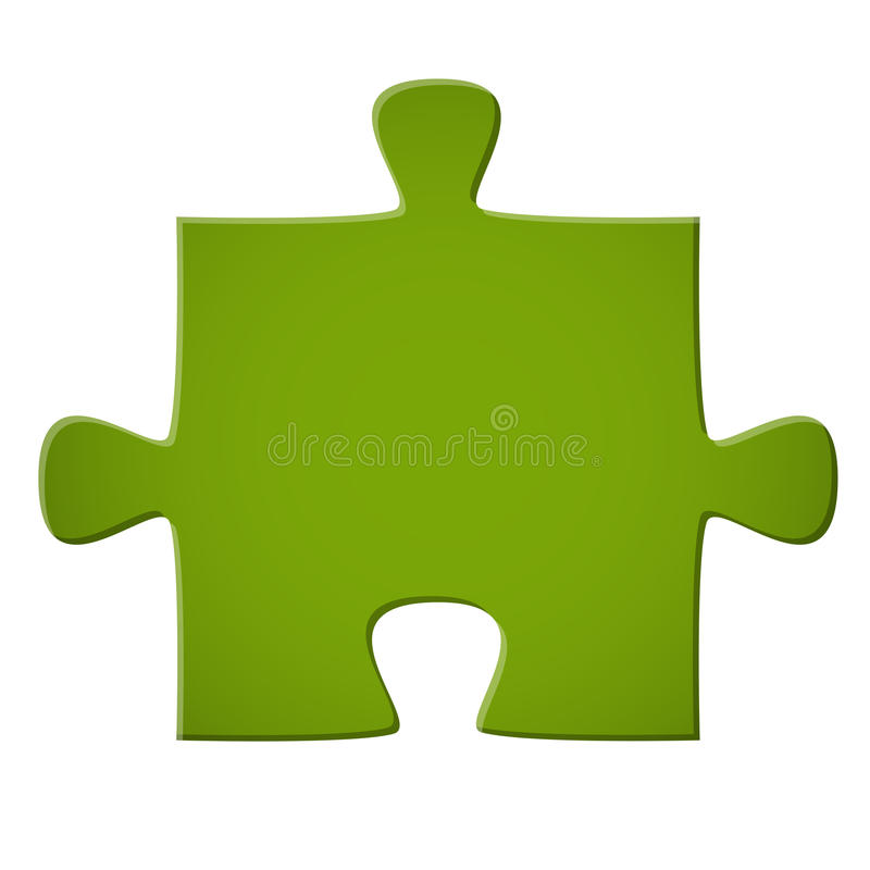 Puzzlespielstückgrün vektor abbildung