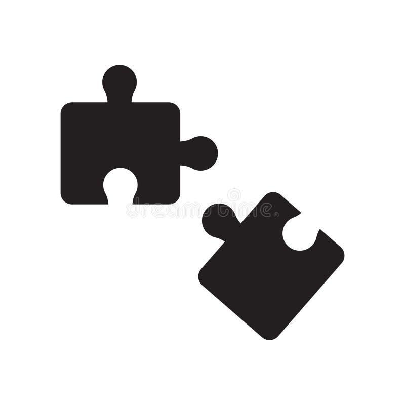 Puzzlespielstückikone  lizenzfreie abbildung