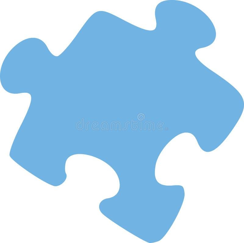 Puzzlespielstückvektor stock abbildung
