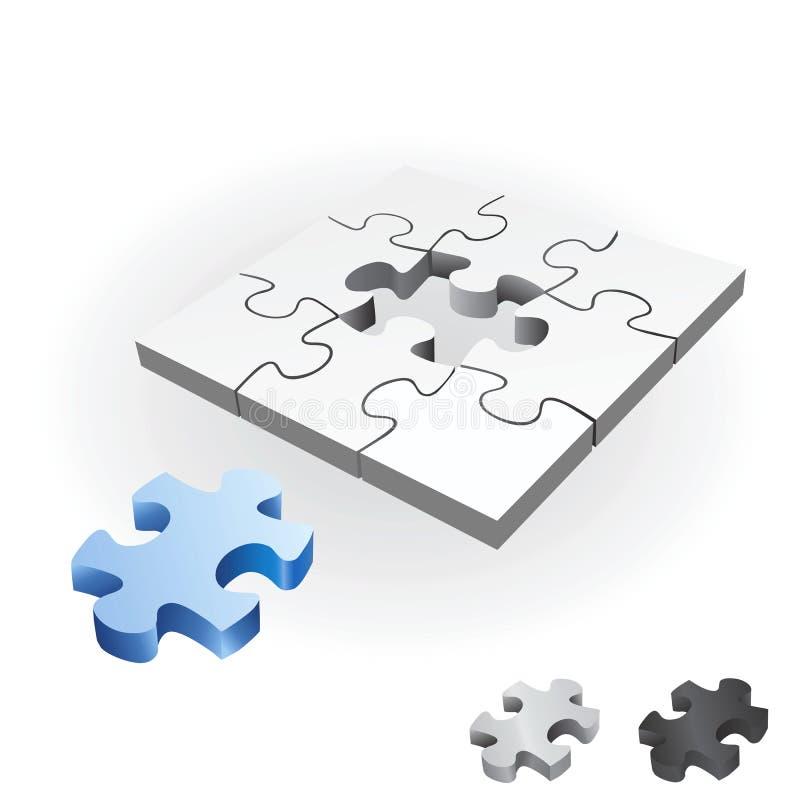 Puzzlespielvektor lizenzfreie abbildung