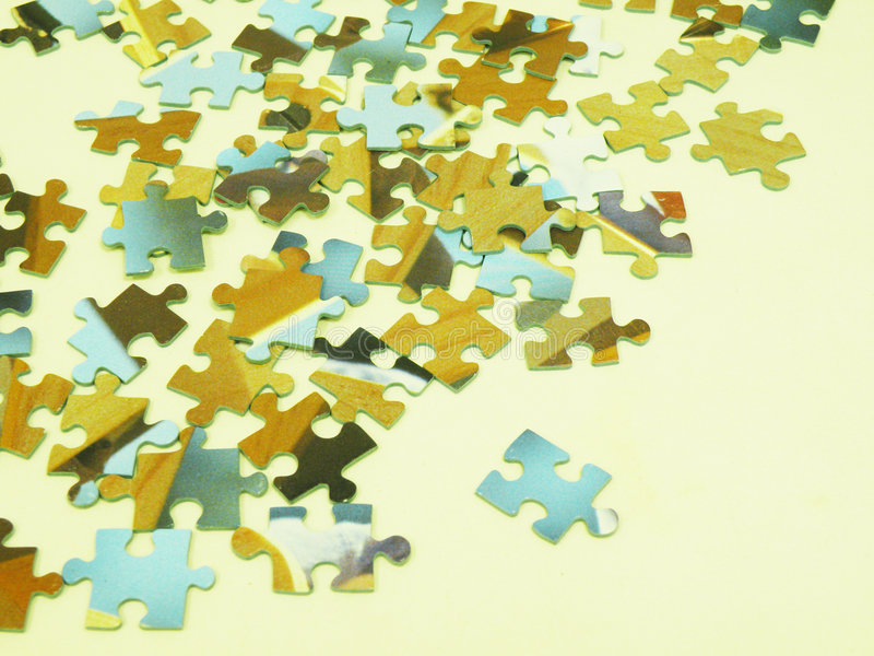 Puzzlestücke lizenzfreies stockfoto