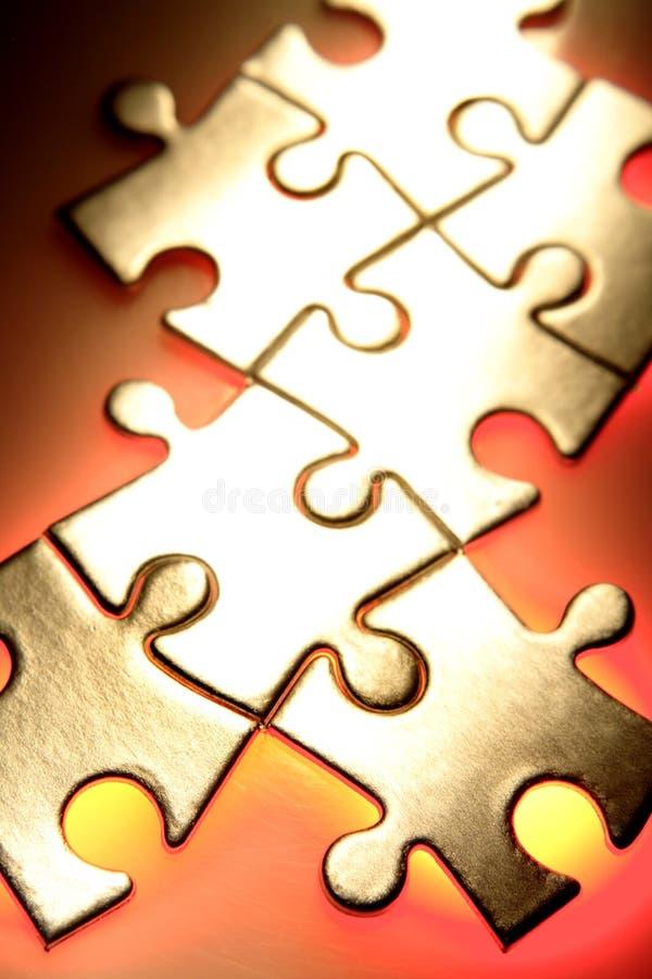 Puzzlestücke lizenzfreie stockfotos