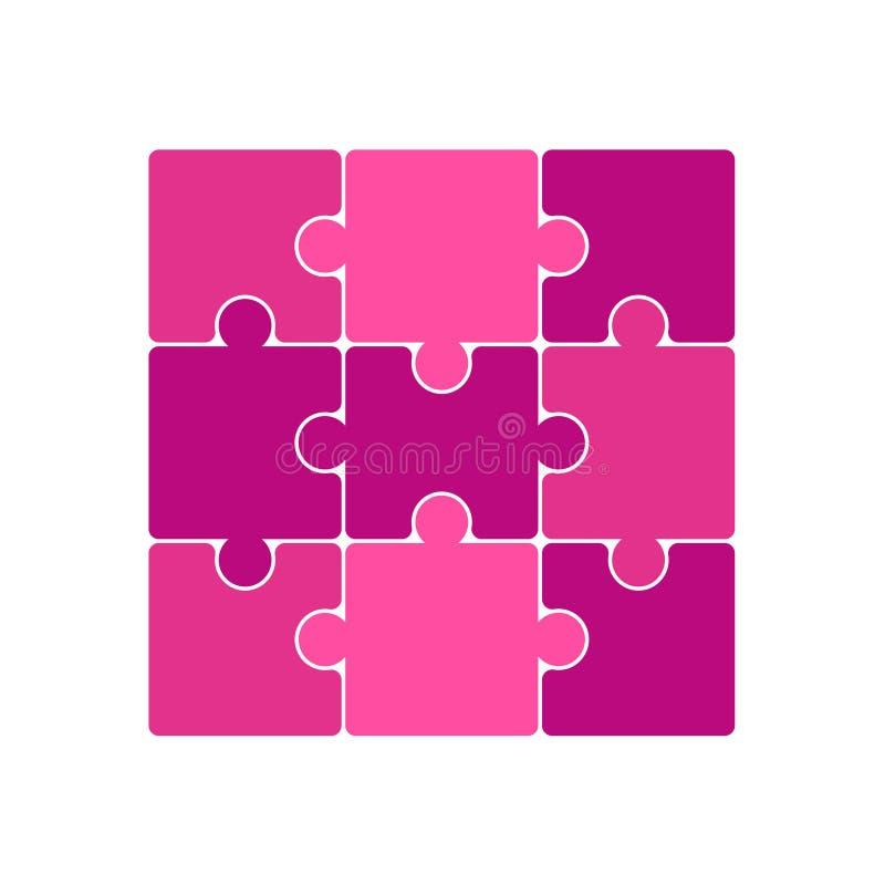 Puzzlestücke des Vektors stock abbildung