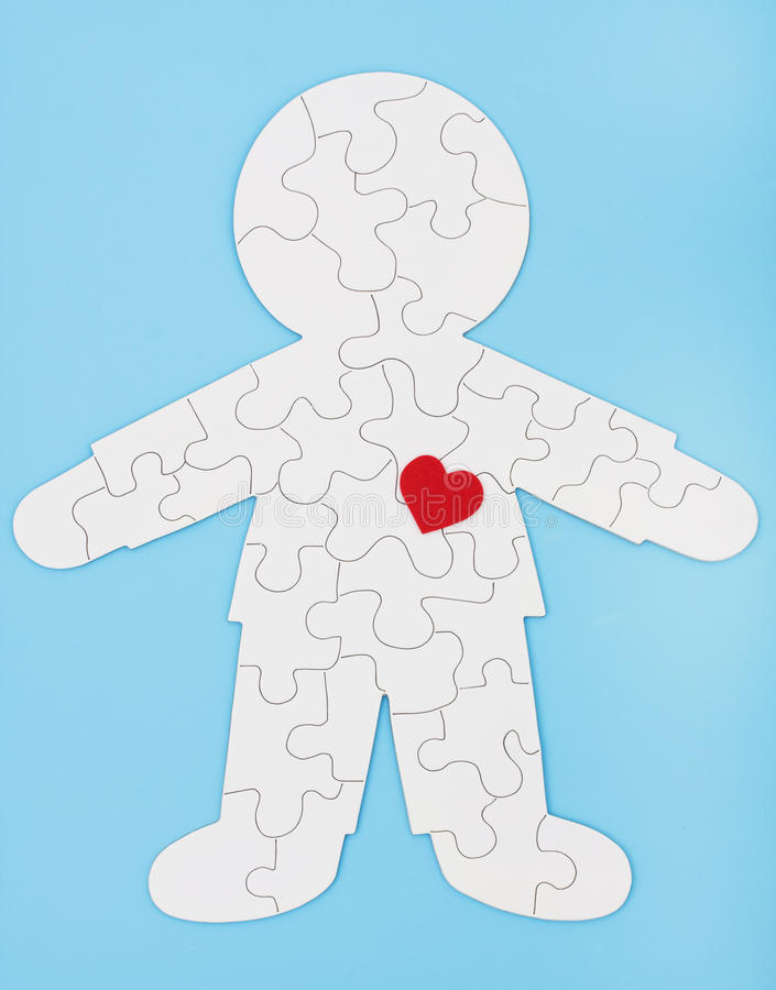 Puzzling Body stock images