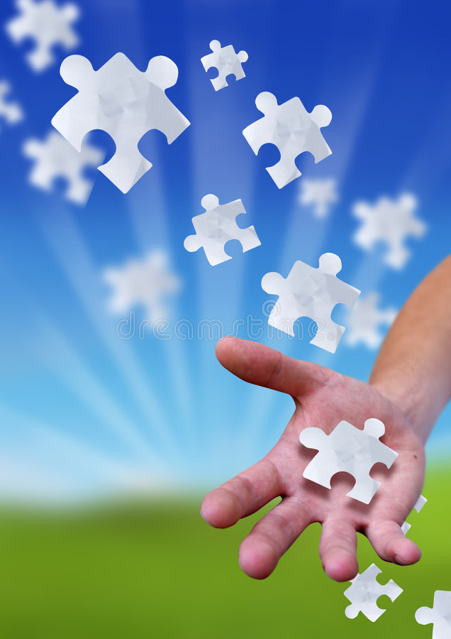 Download The Puzzling Link stock image. Image of metaphor, game - 2582993