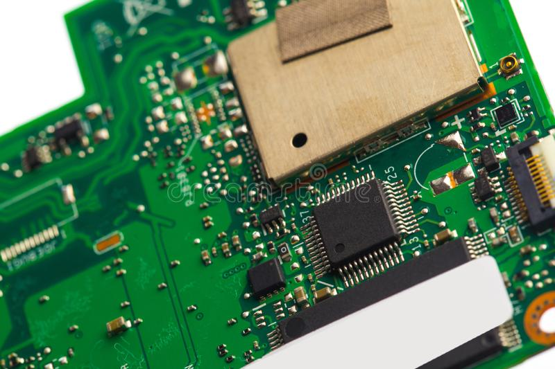 PVB mother board  isolated on white royalty free stock images