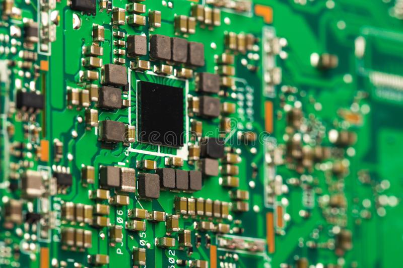 PVB mother board  isolated on white stock image