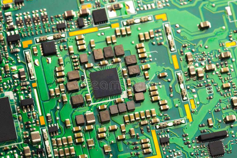 PVB mother board  isolated on white stock photography