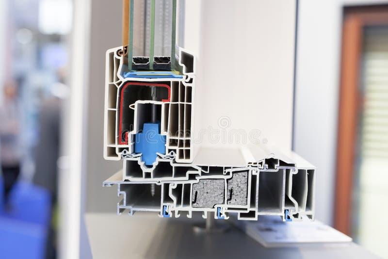PVC窗口外形 图库摄影