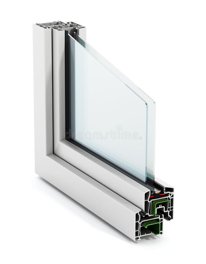 PVC窗口细节 库存照片