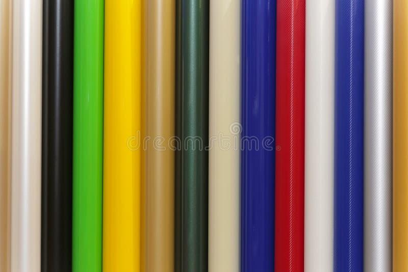 Pvc del vinilo del color imágenes de archivo libres de regalías