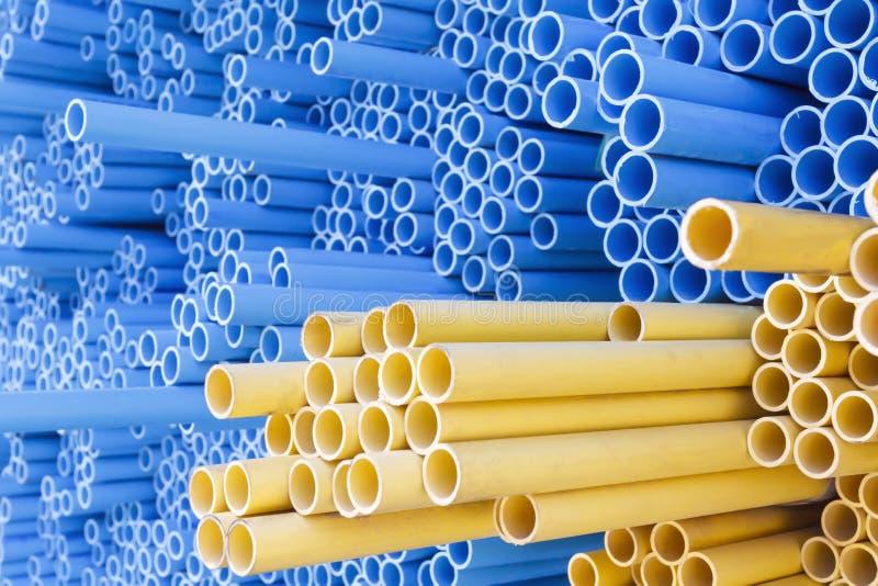 PVC drymby dla elektrycznego przewodu i wody obrazy stock