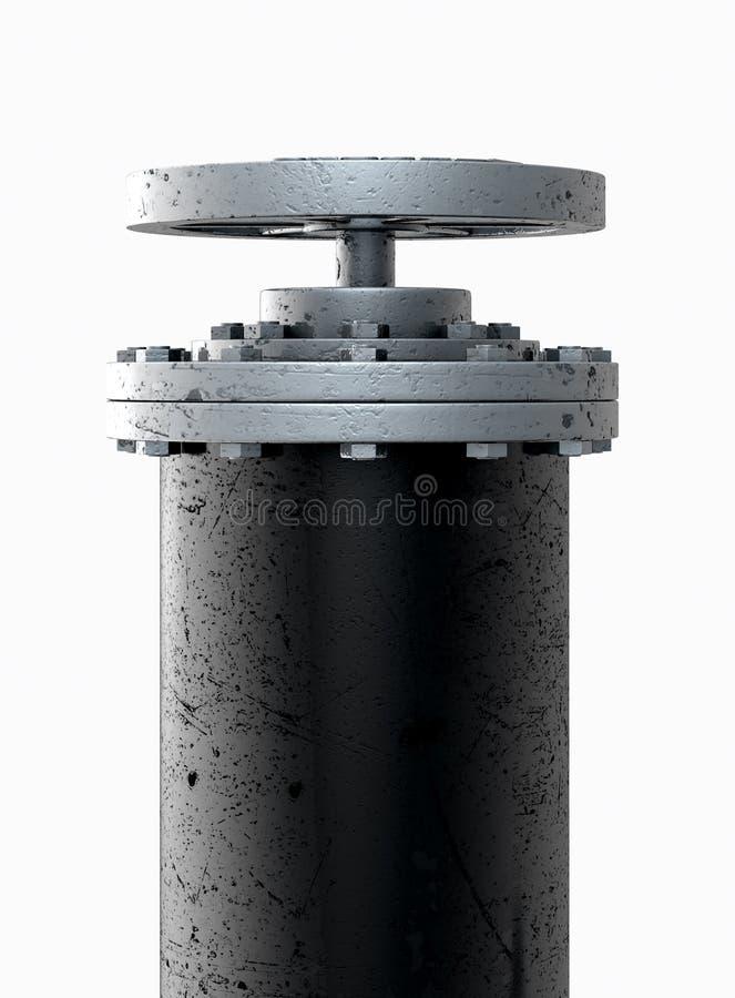 PVC drymby sekcja ilustracja wektor