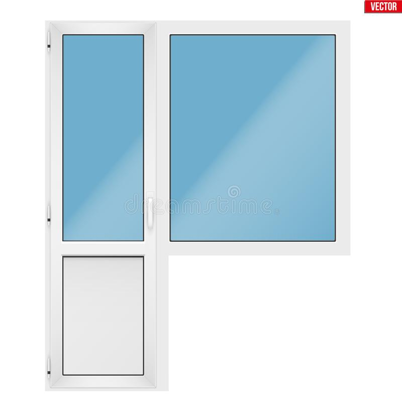 PVC drzwi i royalty ilustracja