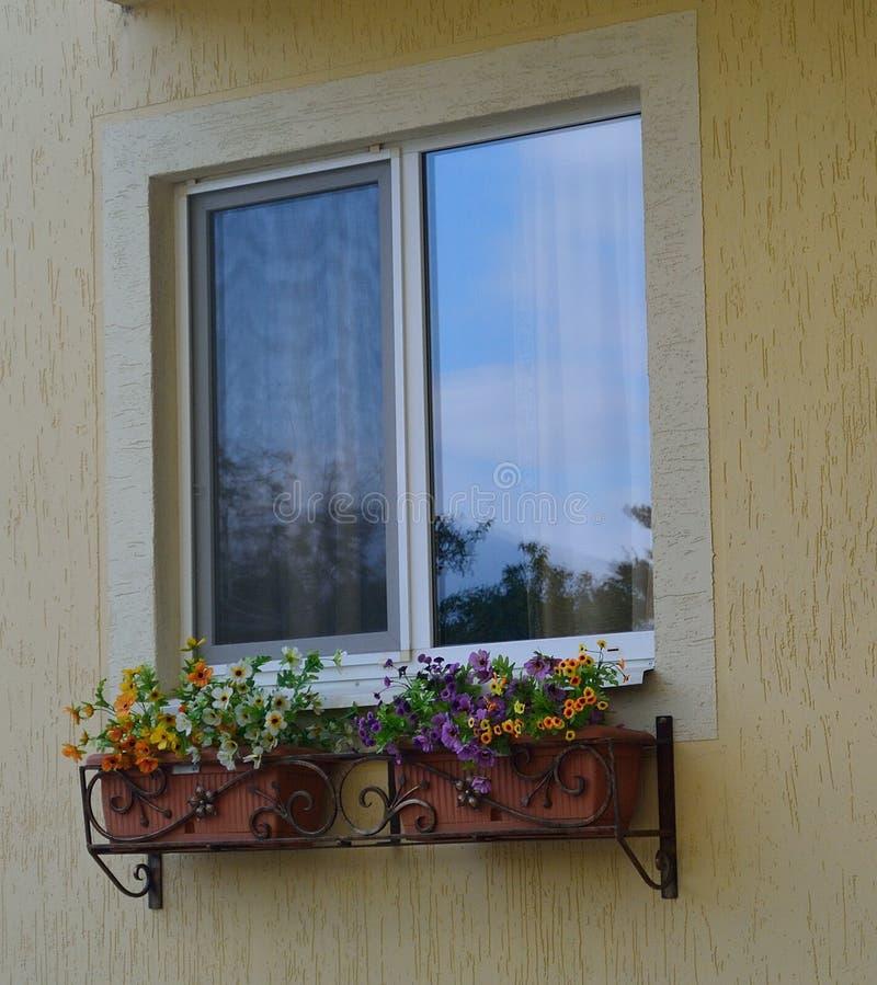 Pvc-fönster arkivbild
