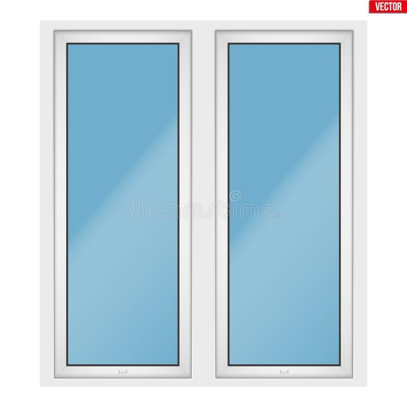 PVC okno z dwa szarfą royalty ilustracja