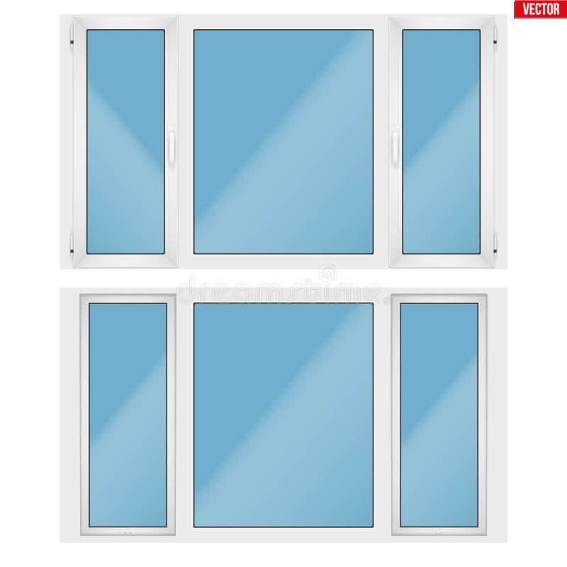 PVC okno z trzy szarfą royalty ilustracja