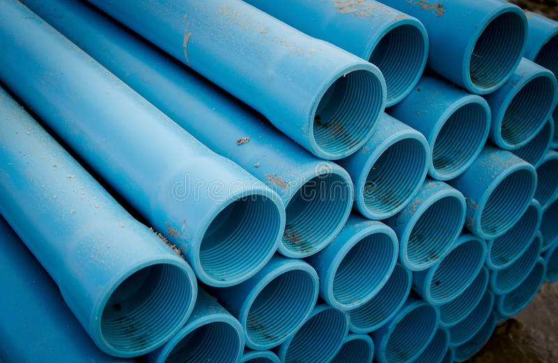 PVC pipe. For mounting bore holes and pumping solutions royalty free stock photography