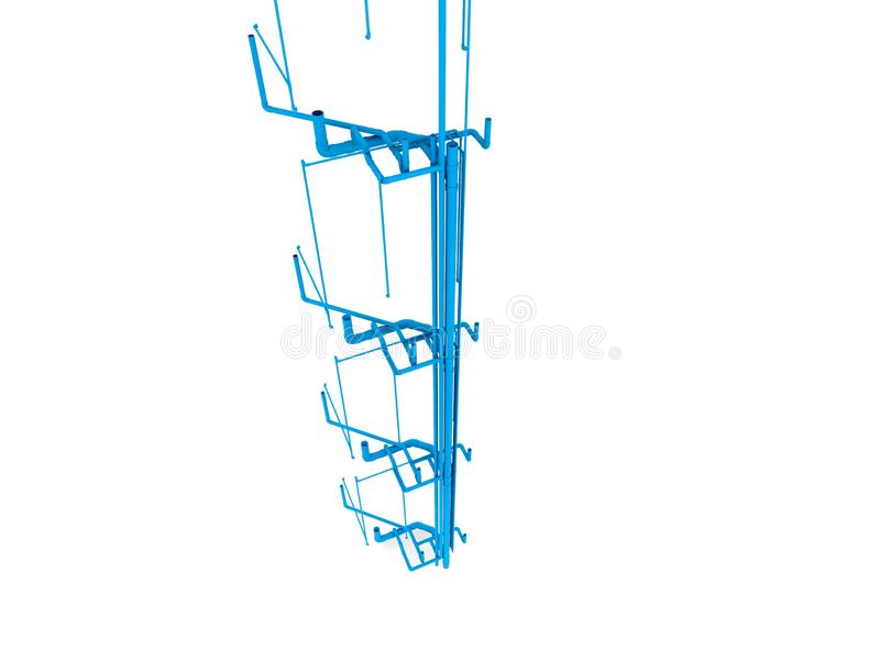 Pvc pipe for water piping system. 3D illustration royalty free illustration