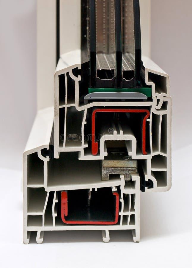 PVC profile for windows manufacturing stock photo