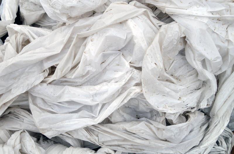 PVC sgualcito bianco sporco fotografie stock
