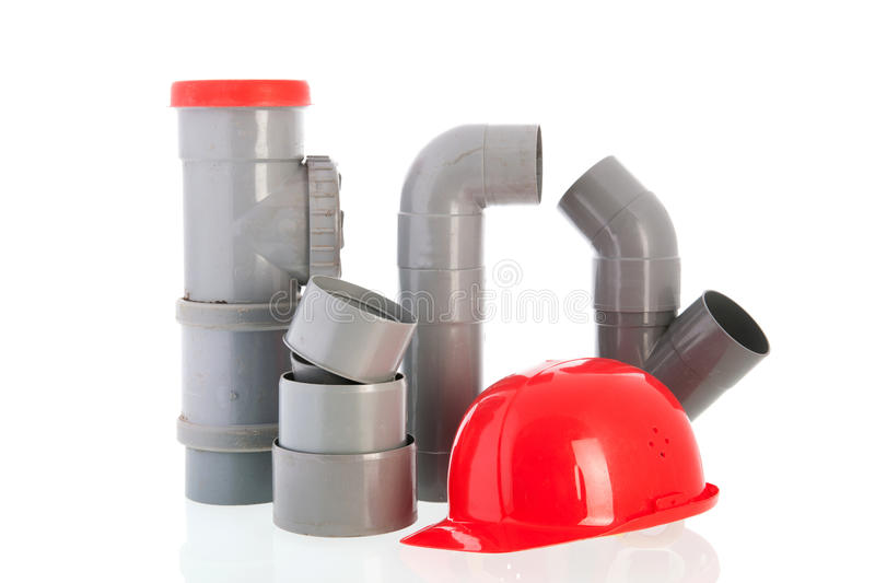 Download PVC tubes and pipes stock photo. Image of sewer, installation - 33160794