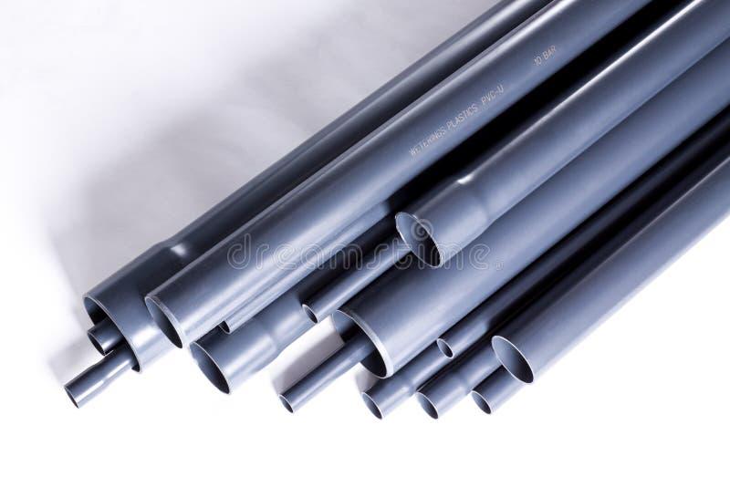 PVC-U pipes stock photo