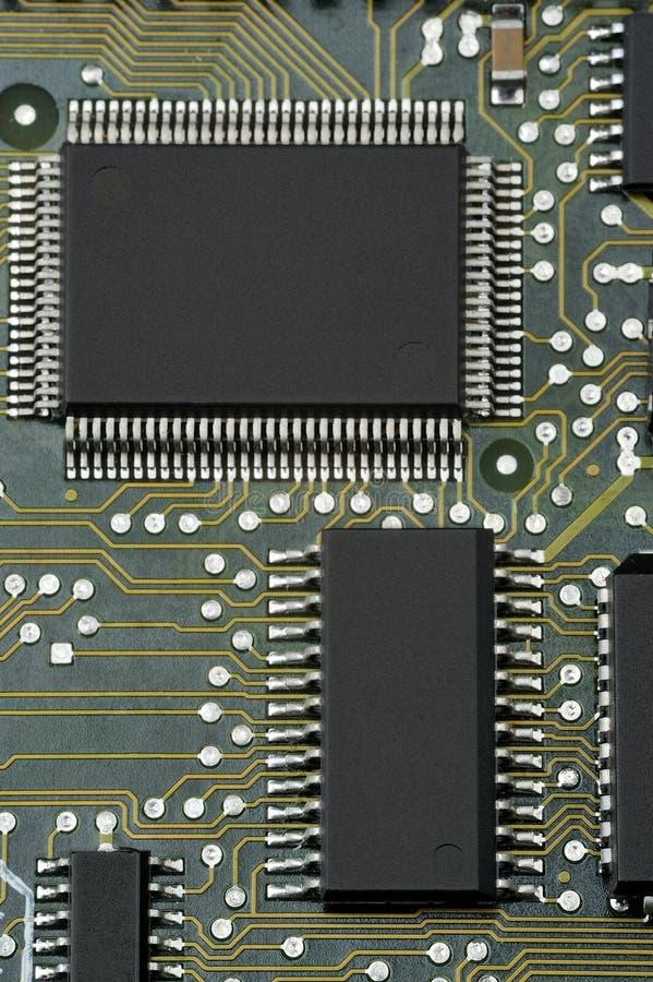 PWB com microplaqueta fotos de stock