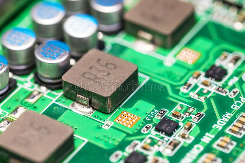 PWB da placa de circuito eletrônico fotografia de stock royalty free