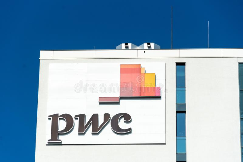 PwC标志 免版税库存照片
