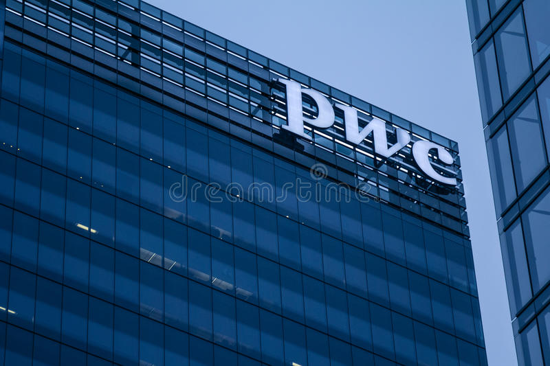 PWC Pricewaterhousecoopers main office for Canada in Toronto royalty free stock photos
