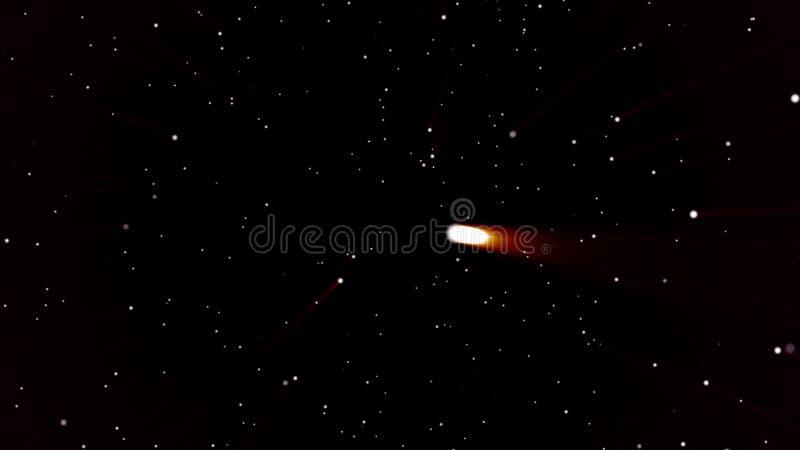 Pył cząsteczki Naturalne Unosi się Organicznie cząsteczki Na Czarnym tle Wysokiej jakości ruch animaci repesenting gwiazdy ilustracja wektor