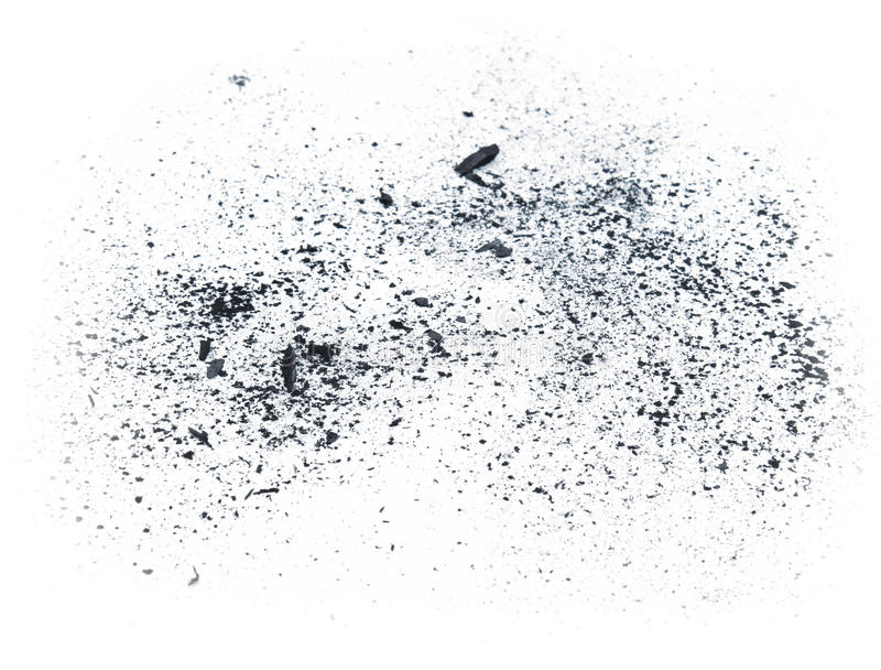 Pył węgiel drzewny zdjęcie stock