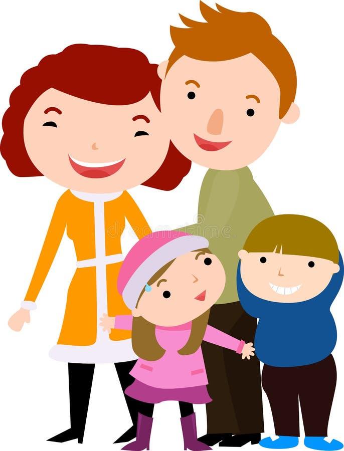 Py rodzina ilustracji