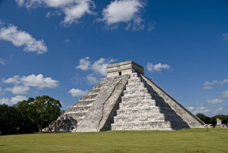 Pyarmid Chichen Itza Mexico royalty free stock photo