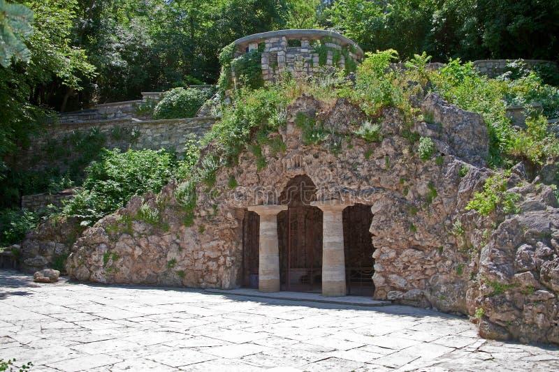 Pyatigorsk 花公园 戴安娜洞穴  图库摄影
