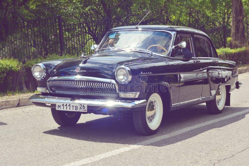 PYATIGORSK ROSJA, MAJ, - 09, 2017: klasyczny sowiecki retro samochód GAZ-21 Volga obrazy stock