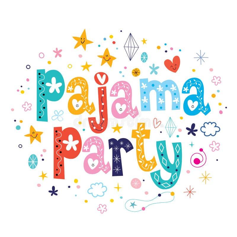 Pyjamapartij vector illustratie