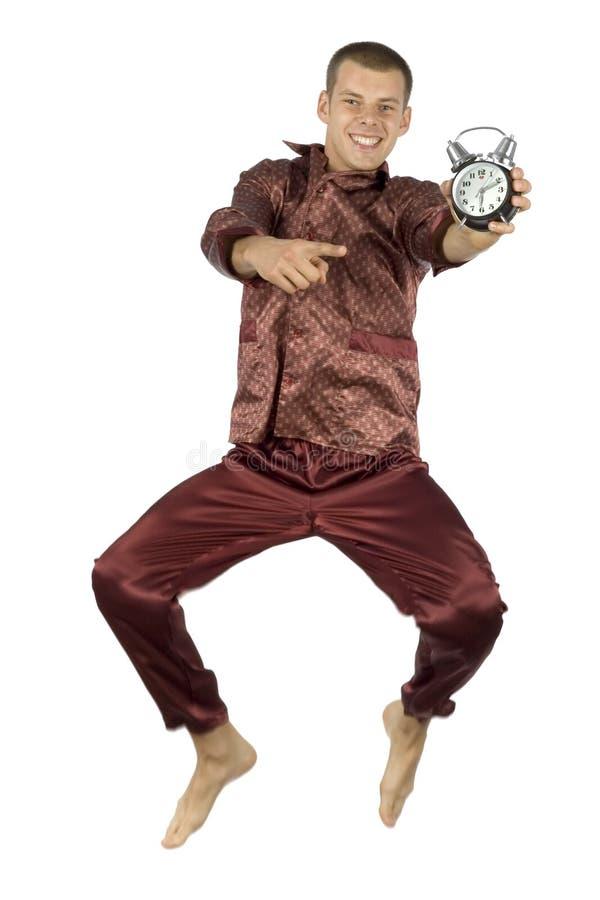 pyjamas человека летания стоковая фотография rf