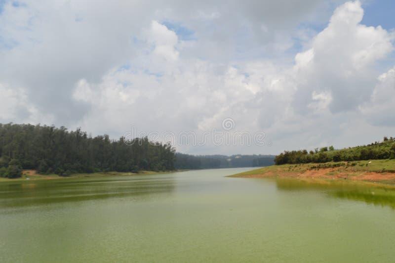 Pykara湖,乌塔卡蒙德,泰米尔纳德邦印度 库存图片