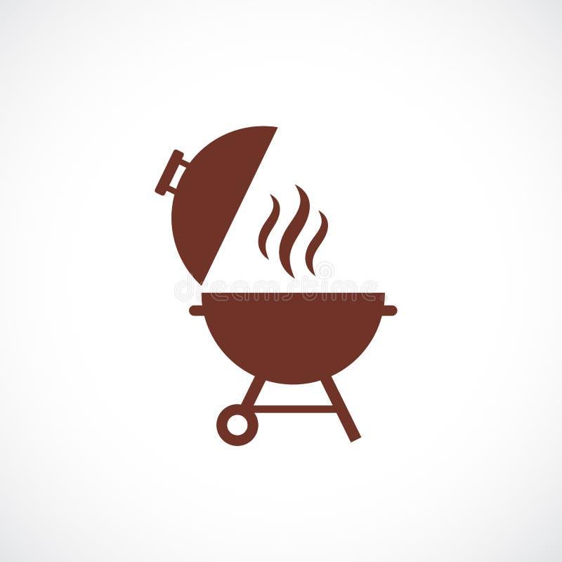 Pykniczna grilla wektoru ikona royalty ilustracja