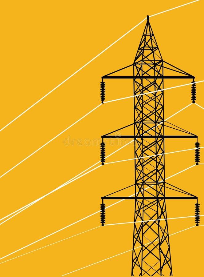 Pylône électrique d'énergie illustration stock