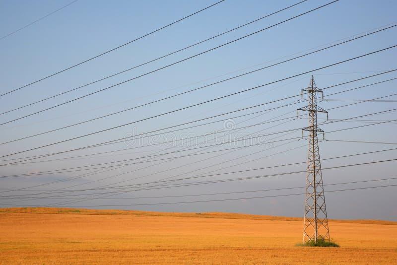 Pylône de l'électricité image libre de droits