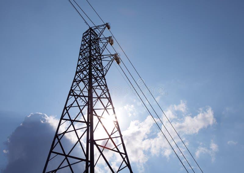 Pylône de réseau de pouvoir photos stock