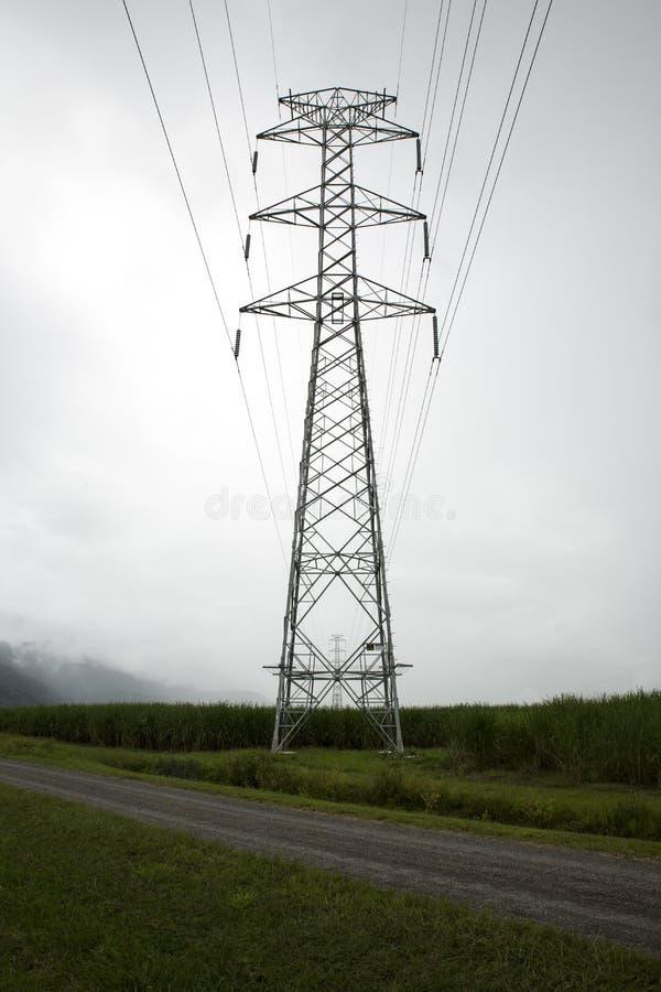 Pylône à haute tension image stock