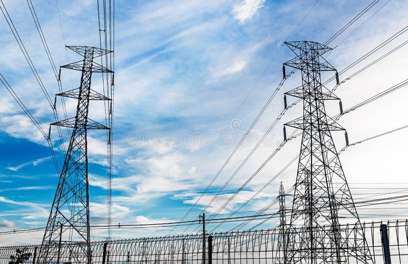 Pylône de l'électricité photos libres de droits