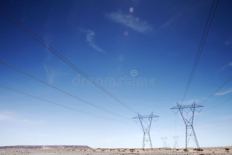 Pylônes Etats-Unis de l'électricité images stock
