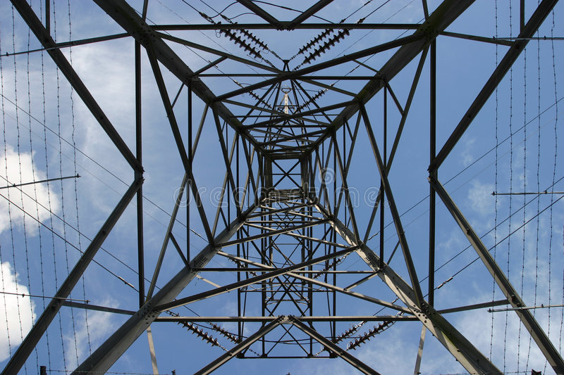 Download Pylon stock photo. Image of electricity, symmetrical, metal - 104684