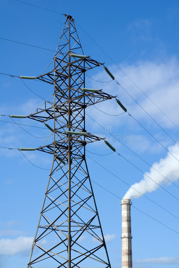 Free Pylon And Factory Pipe Royalty Free Stock Photos - 6664558
