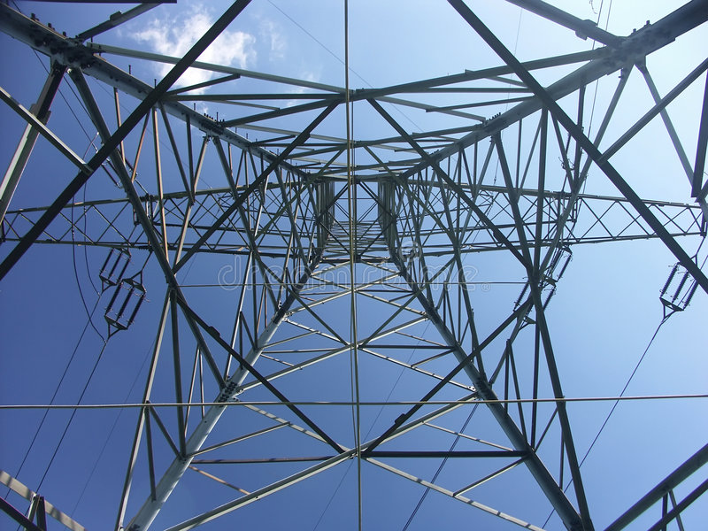 Pylon from below royalty free stock image